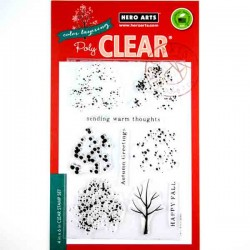 Hero Arts Color Layering Fall Trees Stamp Set