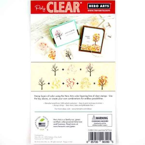 Hero Arts Color Layering Fall Trees Stamp Set class=