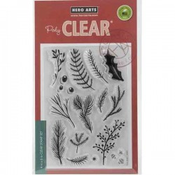 Hero Arts Holiday Pine Branches Stamp Set