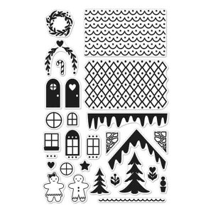 Make A Gingerbread House Stamp Set class=