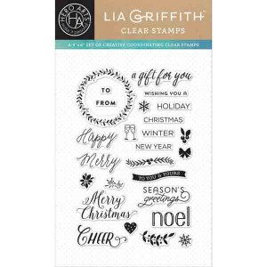 Happy Merry Messages Stamp Set