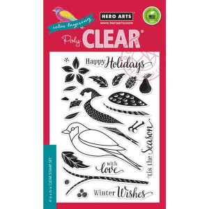 Color Layering Dimensional Bird Stamp Set
