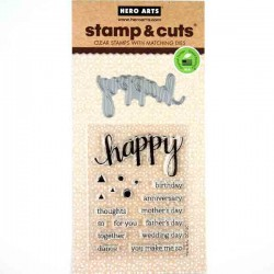 Happy Stamp and Cut Set