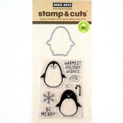 Hero Arts Winter Penguin Stamp & Die Set