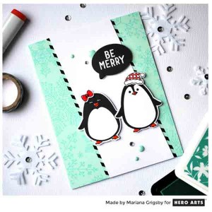 Hero Arts Winter Penguin Stamp & Die Set class=