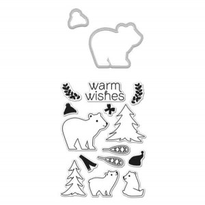 Winter Bear Set Stamp & Die Set class=