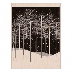 Winter Trees Scene