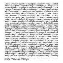My Favorite Things Typewriter Text Background