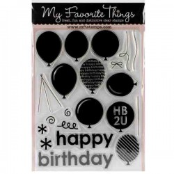 My Favorite Things DC Party Balloons Stamp Set