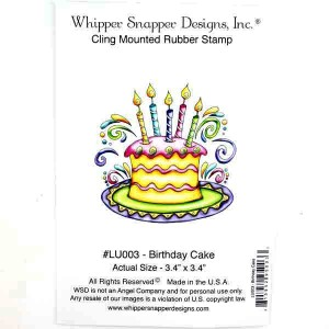 Whipper Snapper Birthday Cake Stamp