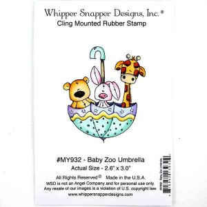 Whipper Snapper Baby Zoo Umbrella Stamp