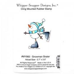 Whipper Snapper Snowman Skater Stamp