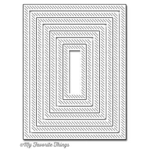 Die-namics Inside & Out Diagonal Stitched Rectangle STAX