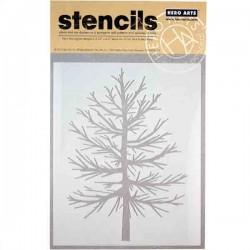 Elegant Tree Stencil
