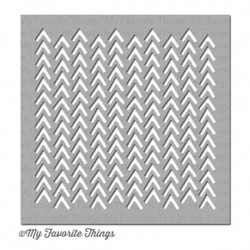 My Favorite Things Wonky Chevron Mix-ables Stencil