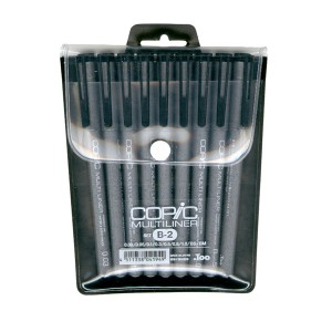Copic Multiliner 9pc Black Set B-2 class=
