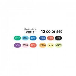 Copic Sketch 12 Color Set