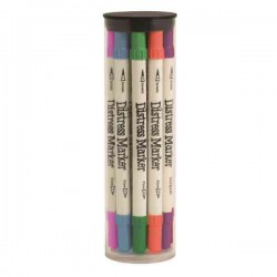 Tim Holtz Distress Marker Tube Set, 12 colors