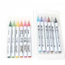 Zig Clean Color Real Brush Marker, 12 color set