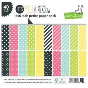 "Lawn Fawn Let's Polka in the Meadow Petite Paper Pack - 6"" x 6"""