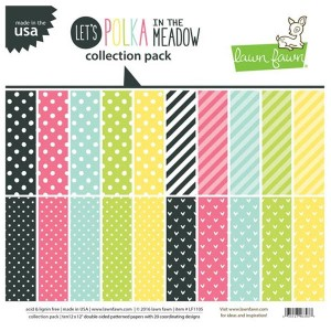 "Lawn Fawn Let's Polka in the Meadow Collection Pack - 12"" x 12"""