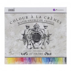"Prima Water Soluble Oil Pastels 3.25"" 24/Pkg"