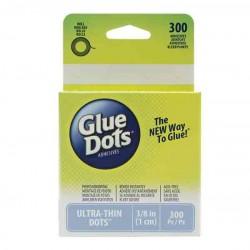 "Glue Dots Clear Ultra-Thin Dots - 3/8"" (1cm)"