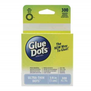 "Glue Dots Clear Ultra-Thin Dots - 3/8"" (1cm) class="