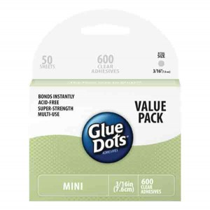 "Glue Dots Mini Dots - 5mm (3/16""), Value Pack"