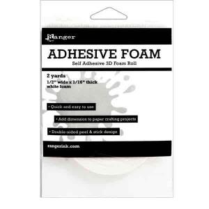 """Adhesive Foam Roll,  1/2""""X1/16""""X2yd"""
