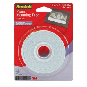 "Foam Mounting Tape by Scotch - 1/2"" width"