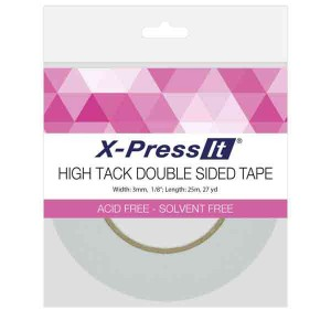 "Double Sided Tape High Tack - 3mm (1/8"") wide"
