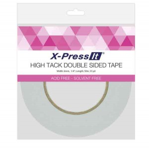 "High Tack Double-Sided Tissue Tape, 6mm (1/4"") wide"