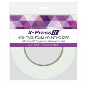 "High Tack Foam Mounting Tape, 1/2"" (12mm) wide class="