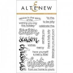 Altenew Halftone Holidays Stamp Set