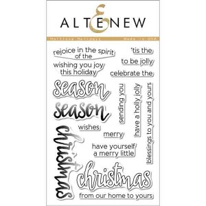Altenew Halftone Holidays Stamp Set