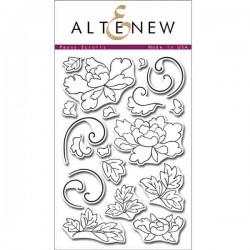 Altenew Peony Scrolls Stamp Set