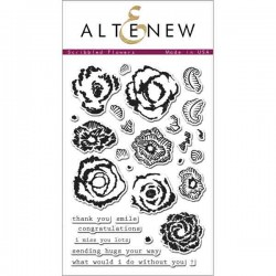 Altenew Scribbled Flowers Stamp Set