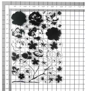 Altenew Vintage Flowers Stamp Set class=