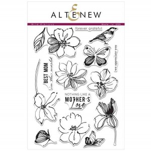 Altenew Wild Hibiscus Stamp Set