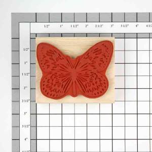 Judikins Butterfly #3 Rubber Stamp class=
