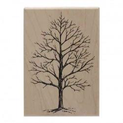 Winter Tree Wood Stamp
