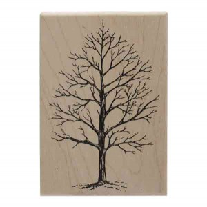 Winter Tree Wood Stamp