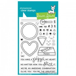 Lawn Fawn Pizza My Heart Stamp Set