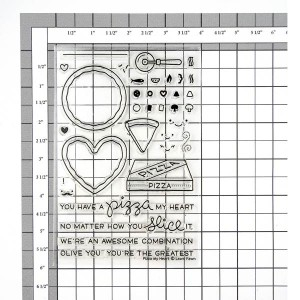 Lawn Fawn Pizza My Heart Stamp Set class=