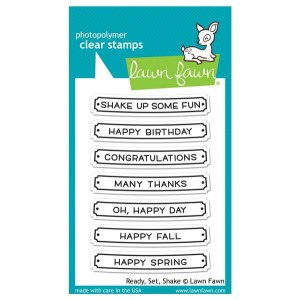 Lawn Fawn Ready, Set, Shake Stamp Set