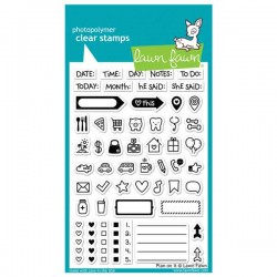 Lawn Fawn Plan On It Stamp Set