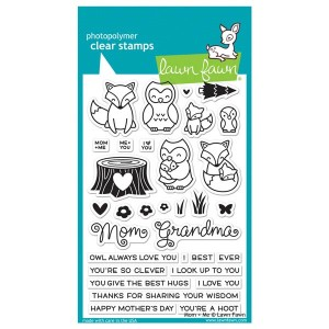Lawn Fawn Mom + Me Stamp Set
