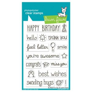 Lawn Fawn So Much To Say Stamp Set