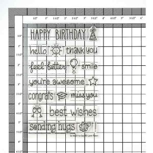 """Lawn Fawn So Much To Say Stamp Set <span style=""""color:red;"""">- Blemished</span> class="""